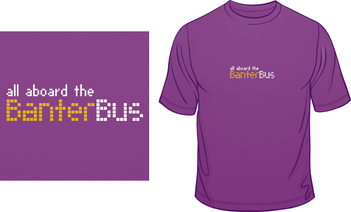 All Aboard The Banter Bus t-shirt