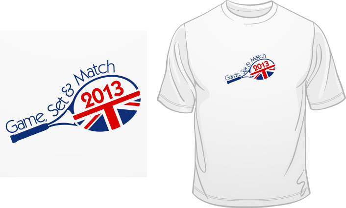 Game, Set and Match 2013 t-shirt