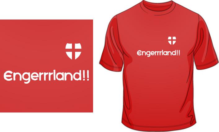 Engerrrland!! (Red) t-shirt