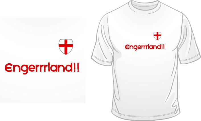 Engerrrland!! t-shirt