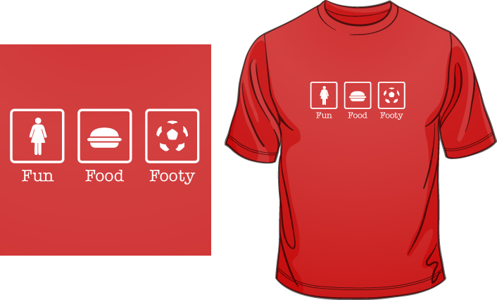 Fun Food Footy t-shirt