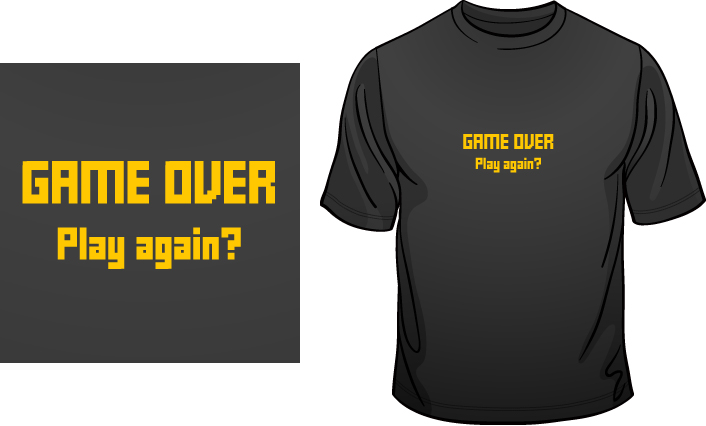 Game over. Play again? t-shirt