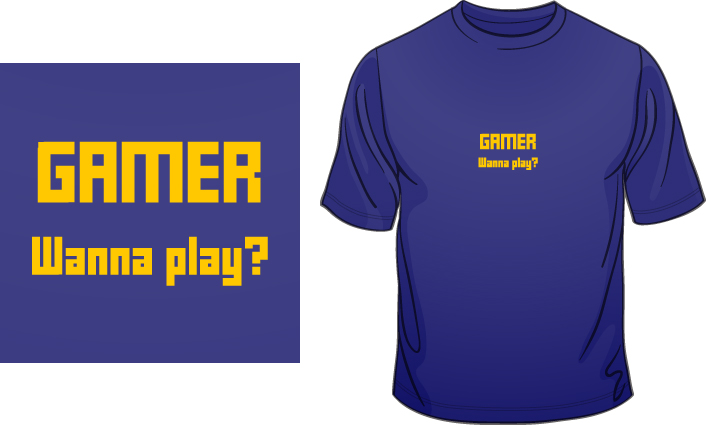 Gamer. Wanna play? t-shirt