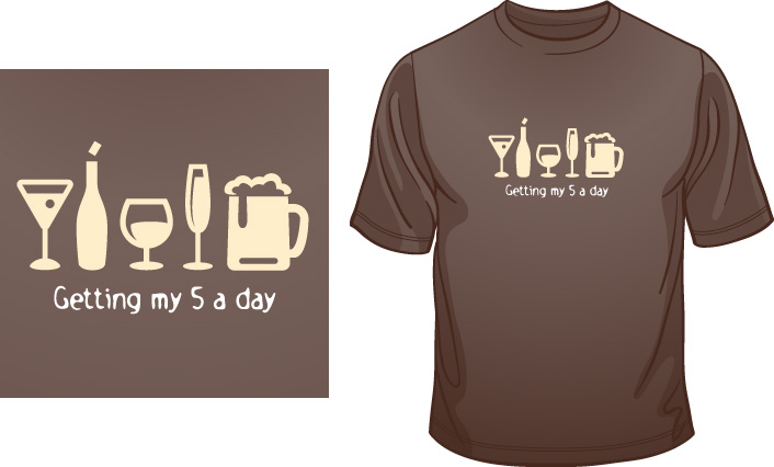 Getting My 5-a-Day t-shirt
