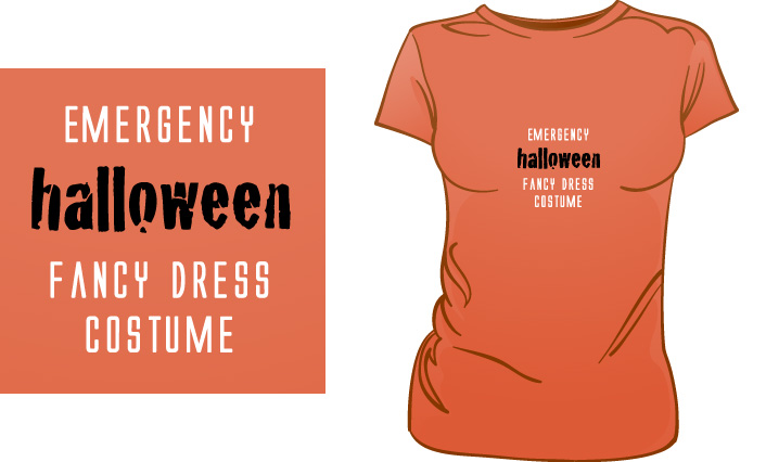 Emergency Halloween Fancy Dress Costume t-shirt