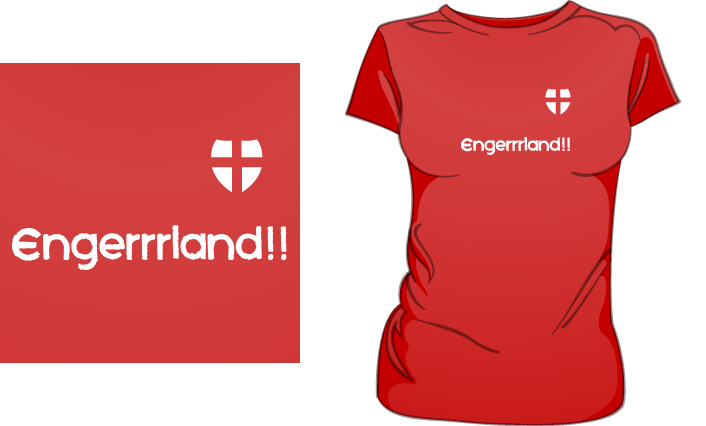 Engerrrland (Red) T-Shirt