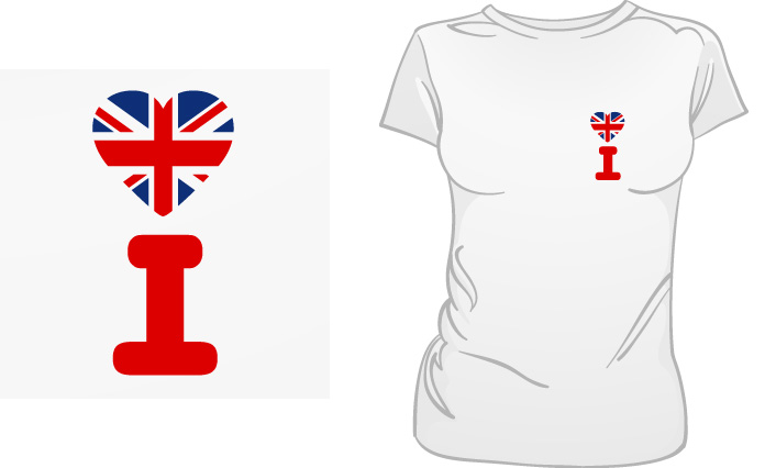 I Love Britain t-shirt