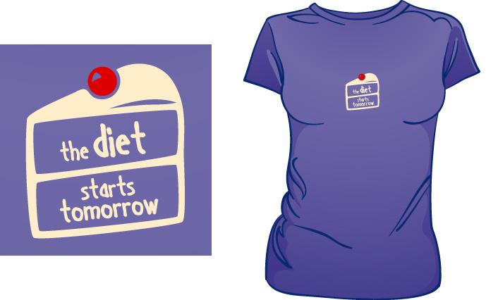 The Diet Starts Tomorrow t-shirt