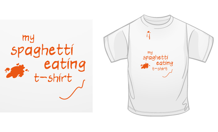 My Spaghetti Eating T-Shirt t-shirt
