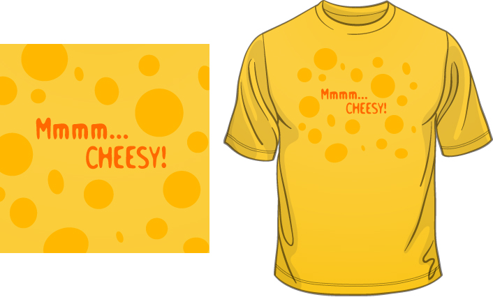 Mmmm… CHEESY! t-shirt