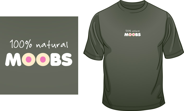 100% Natural MOOBS t-shirt
