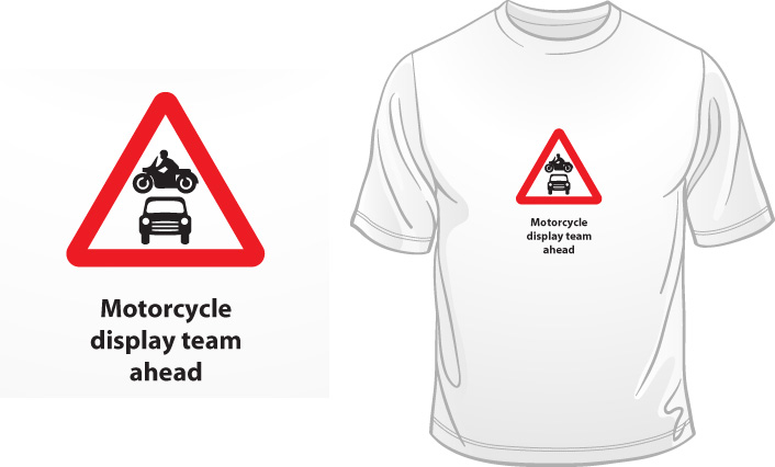 Motorcycle Display Team Ahead t-shirt