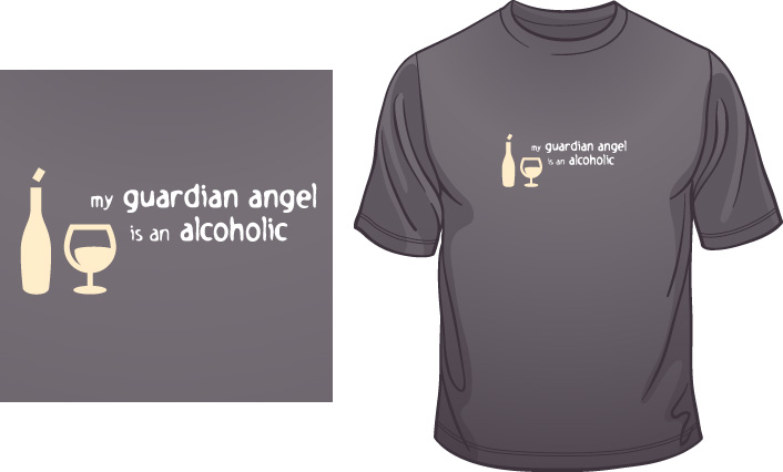 My Guardian Angel Is An Alcoholic t-shirt