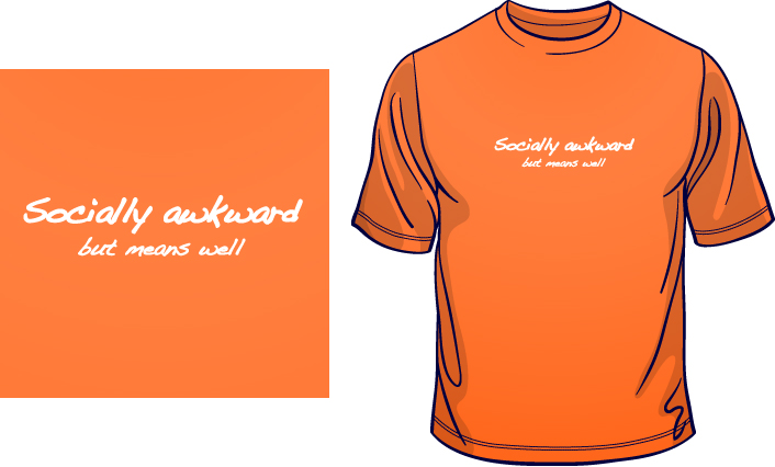 Socially Awkward But Means Well t-shirt