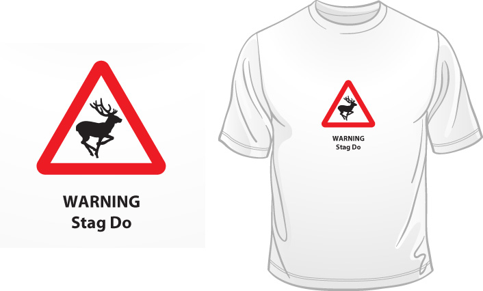 Warning Stag Do t-shirt